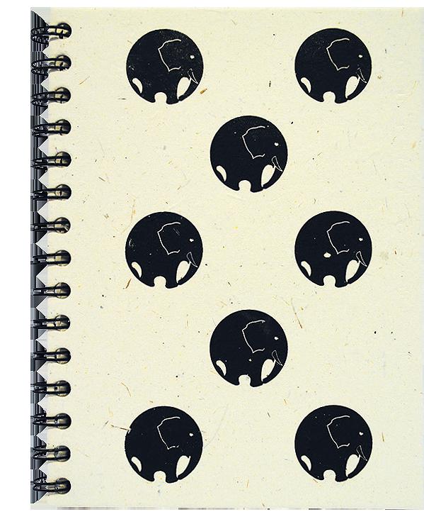 Notitieboek A5 Olifantenrondjes