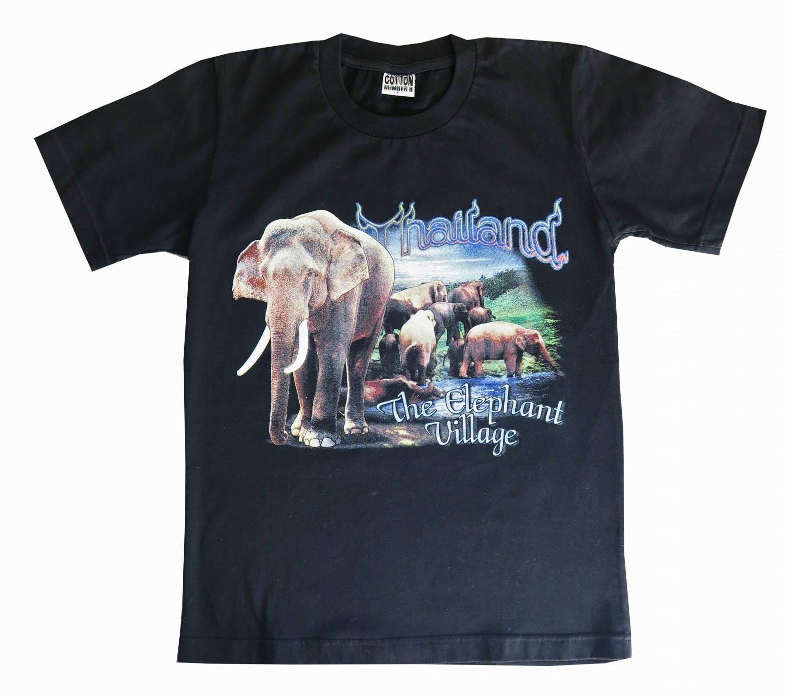 T-shirt Thailand 'The Elephant Village' Maat XS/S