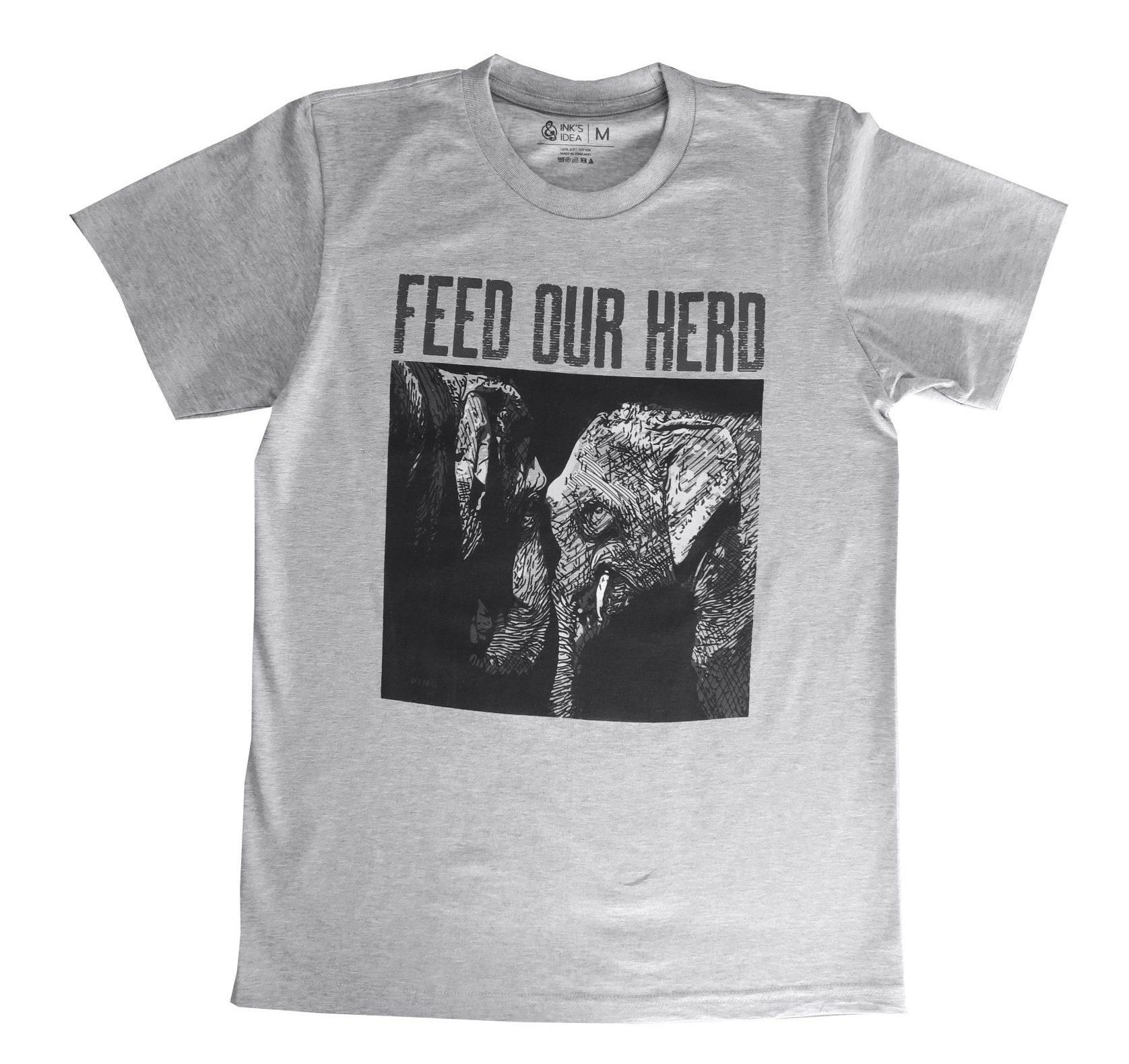 T-shirt Grijs Olifanten Maat M