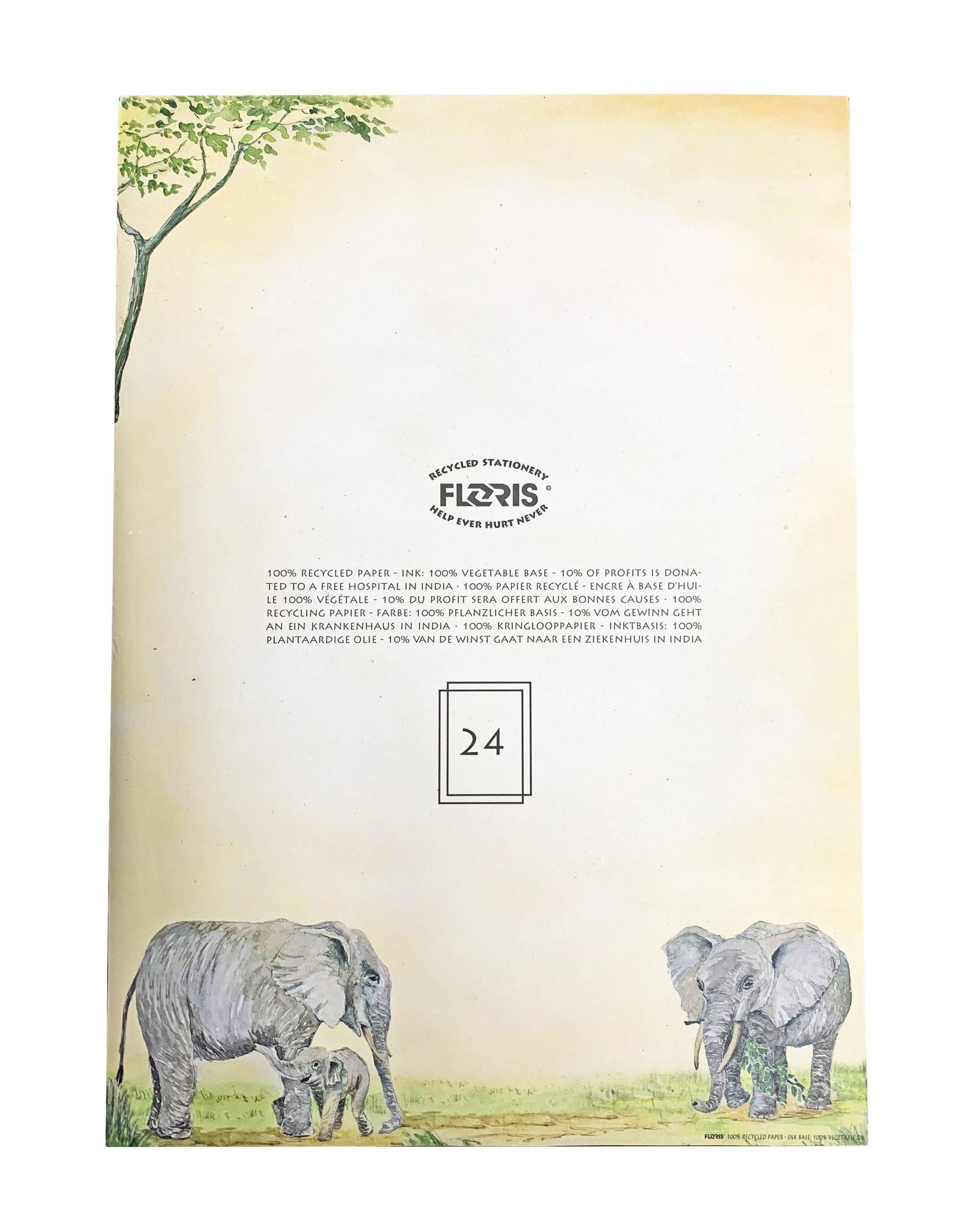Kladblok Afrikaanse Olifanten